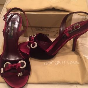 ecd25c6a9787 Sergio Rossi Shoes - SERGIO ROSSI SIZE 38 BURGUNDY NEW NEVER WORN